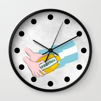 argentina Wall Clocks featuring Argentina Rugby by mailboxdisco