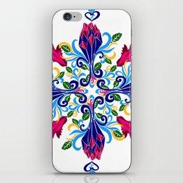 Moroccan Rose Tile Pattern iPhone Skin