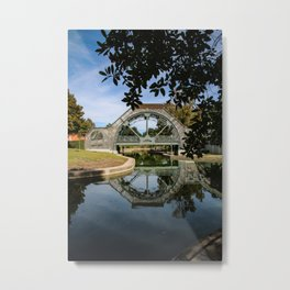 Louis Armstrong park - bridge reflection Metal Print