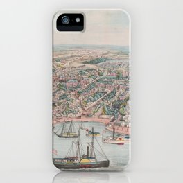 Vintage Pictorial Map of Annapolis MD (1864) iPhone Case