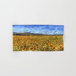 Vincent Van Gogh Sunflowers Hand & Bath Towel