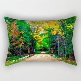 Autumn Bridge Rectangular Pillow