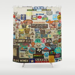My Cool Decals - Travel Stickers Shower Curtain
