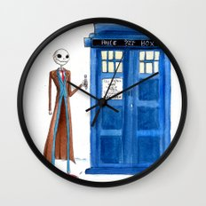 Doctor Wholington, Pumpkin Time Lord King! Wall Clock