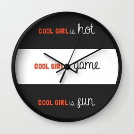 Gone Girl: the Cool Girl Wall Clock