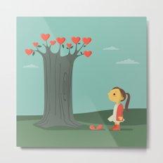 Broken hearted tree Metal Print