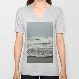 Sea Breaks on the Tidal Shelf Unisex V-Neck