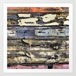 Wood Textures Art Print