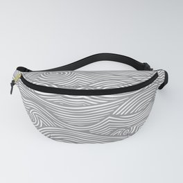 Waves in Charcoal Fanny Pack