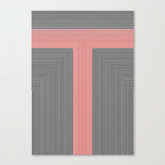 T like T Canvas Print