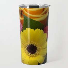 Elegant Spring Floral Bouquet Travel Mug