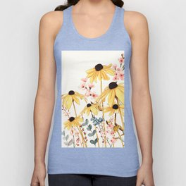Summer Flowers Unisex Tank Top