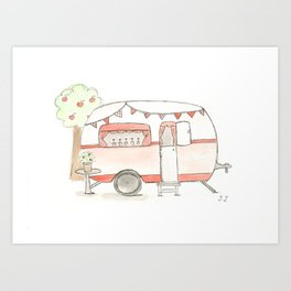 chouchou  caravane  Art Print