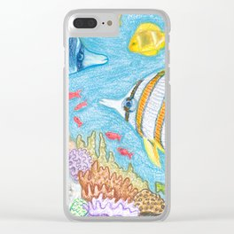 Crayon Fish #2 Clear iPhone Case