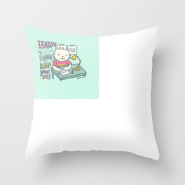 Learn by Trying, Failing and Pushing Yourself Throw Pillow