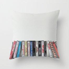 Full Tilt Cassettes Throw Pillow