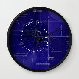 Druids Circle, Castlerigg, Keswick, Cumbria blueprint Wall Clock