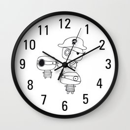 Three pirates, colour yourself Wall Clock