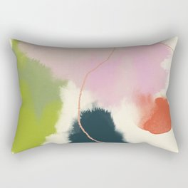 sky abstract with pink & green clouds Rectangular Pillow