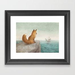 The Day the Antlered Ship Arrived Framed Art Print