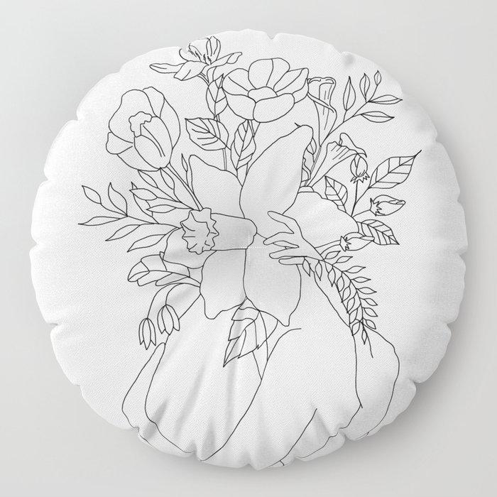 Blossom Hug Floor Pillow