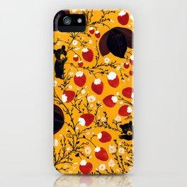 strawberry black bears iPhone Case