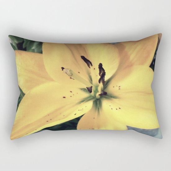 Yellow Lily #1 Rectangular Pillow