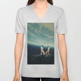 The Earth was crying and We were there Unisex V-Neck