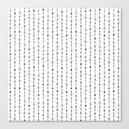 Lines, Dots and Circles - Hand Drawn Illustration, Abstract Pattern Canvas Print