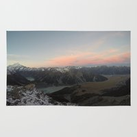 cook Area & Throw Rugs featuring Mt. Cook by amandahewitt
