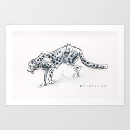 Cheetah Gesture Drawing Art Print