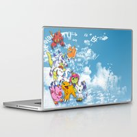 digimon Laptop & iPad Skins featuring Digimon Adventure Partners by Jelecy