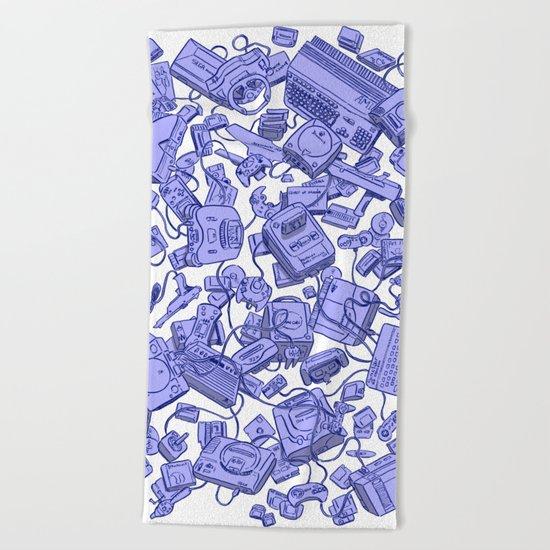 Retro Gamer - Blue Beach Towel