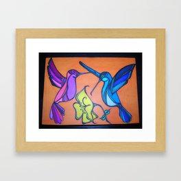 Hummingbirds Sequel Framed Art Print
