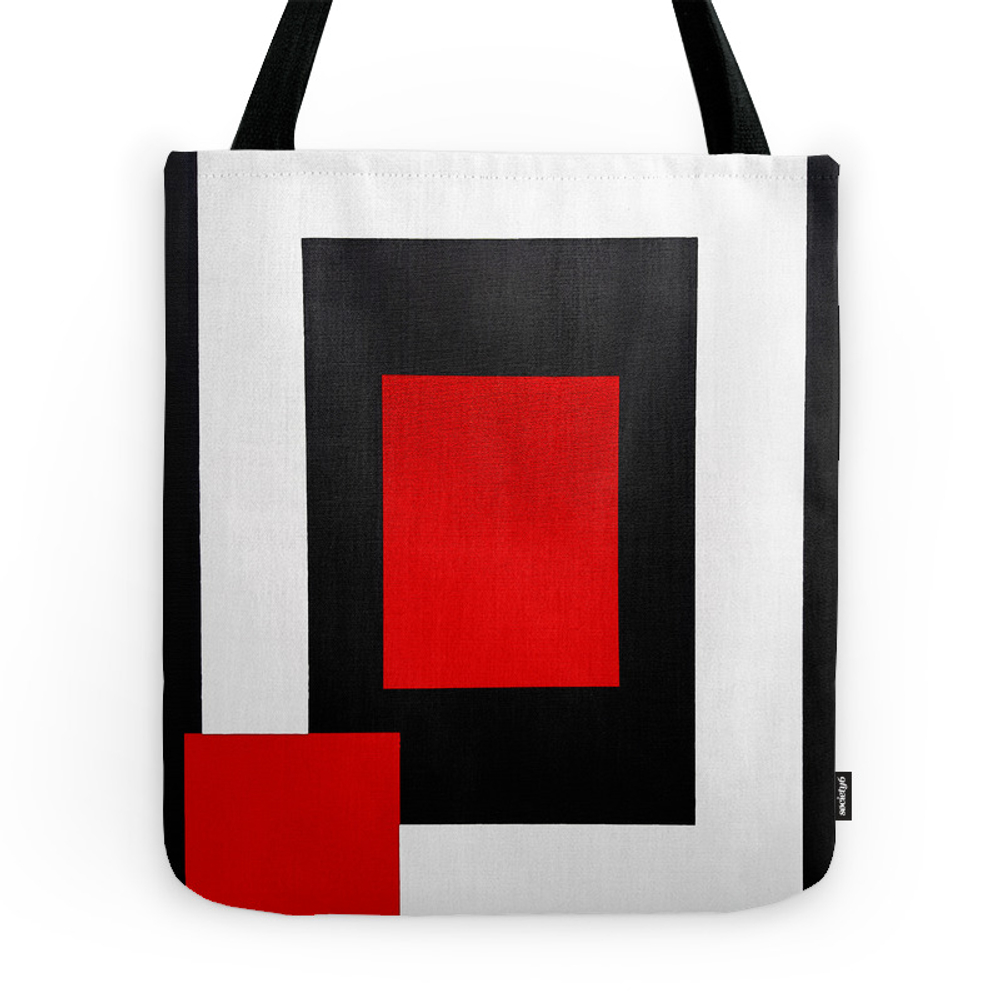 Geometric Abstraction - Red Tote Purse by wingsvariable (TBG9542657) photo