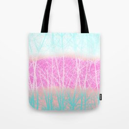 Winter Branches in Ice Cream Colors Tote Bag