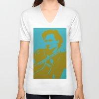 u2 V-neck T-shirts featuring Bono - U2 by Tipsy Monkey