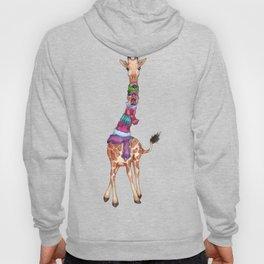 Cold Outside - cute giraffe illustration Hoody