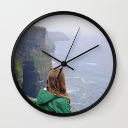 A Girl on the Cliffs Wall Clock
