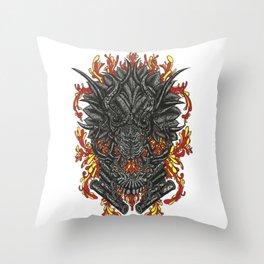 Piston Chewer Throw Pillow