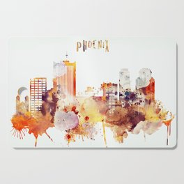 Phoenix City Skyline Cutting Board