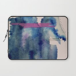 Pour: a blue and purple abstract watercolor Laptop Sleeve