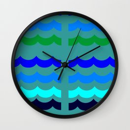 wave california dream 1 Wall Clock