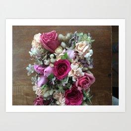 Japanese Flower Box filled with Fresh Flowers Art Print