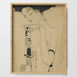 Egon Schiele  -  Standing Girl Serving Tray