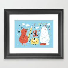 Helpers Blue Framed Art Print