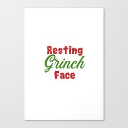 Resting Grinch Face - Christmas Xmas festive design Canvas Print