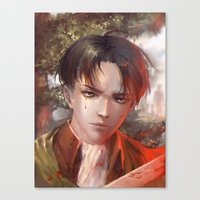levi Canvas Prints featuring Levi SnK by x3uu