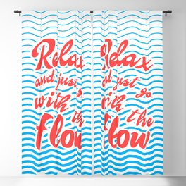 Just Relax and Go With The Flow, with waves, summer, Blackout Curtain