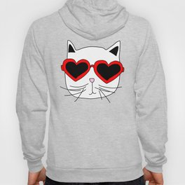 Cat Heart Sunglasses Hoody